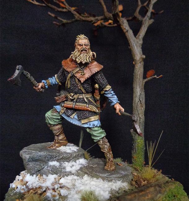 Figures: Scandinavian warrior, IX AD