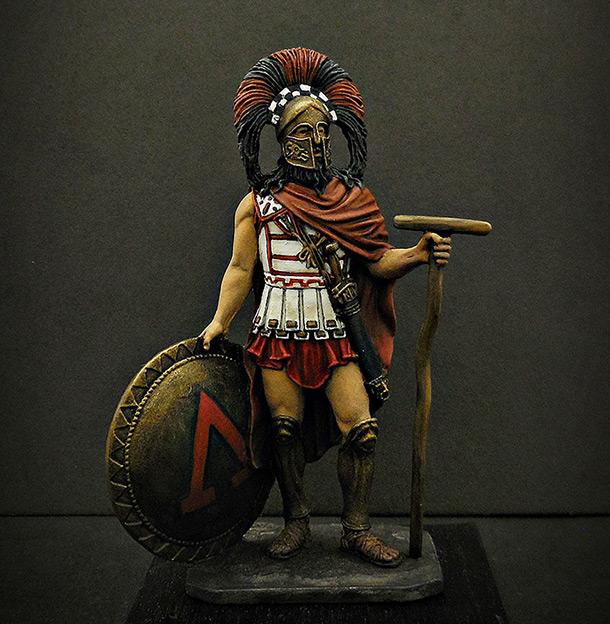Figures: Spartan warlord, V B.C.
