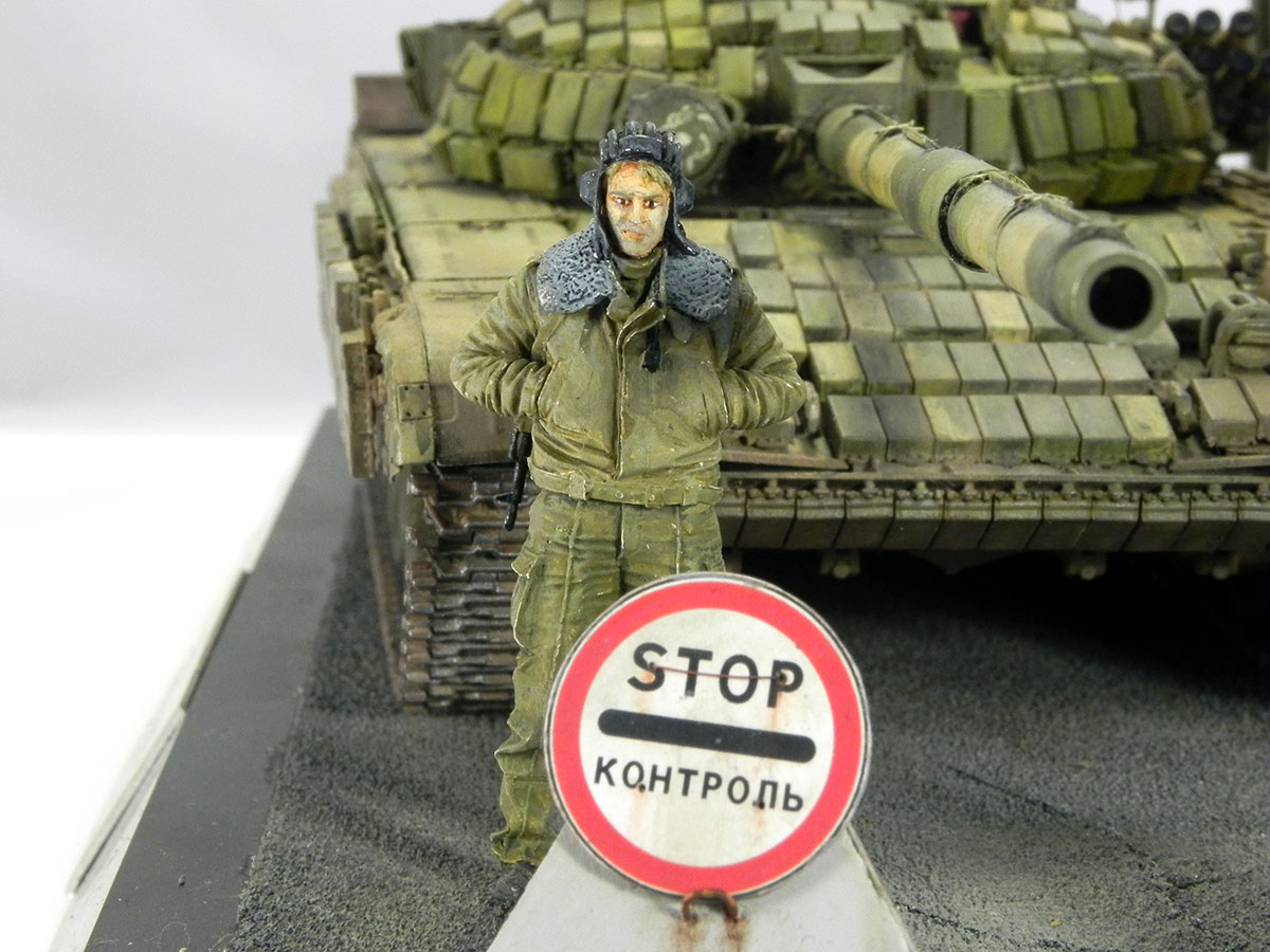 Dioramas and Vignettes: T-72B1, 276th regt., Chechnya, 1995, photo #10
