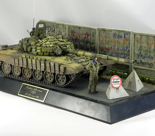 Dioramas and Vignettes: T-72B1, 276th regt., Chechnya, 1995