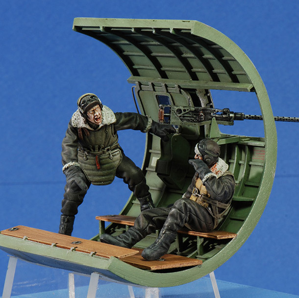 Dioramas and Vignettes: Waist gunner down! Europe 1943