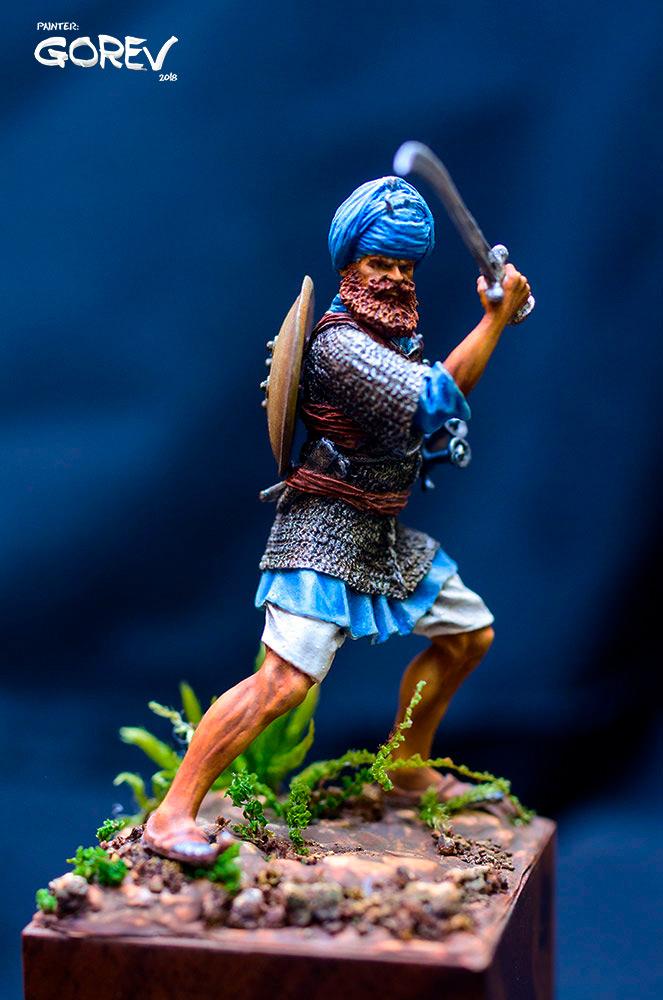 Figures: Akali Sikh warrior, India, XVII cent., photo #2