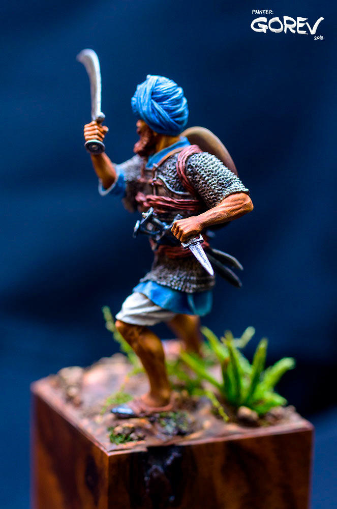 Figures: Akali Sikh warrior, India, XVII cent., photo #3