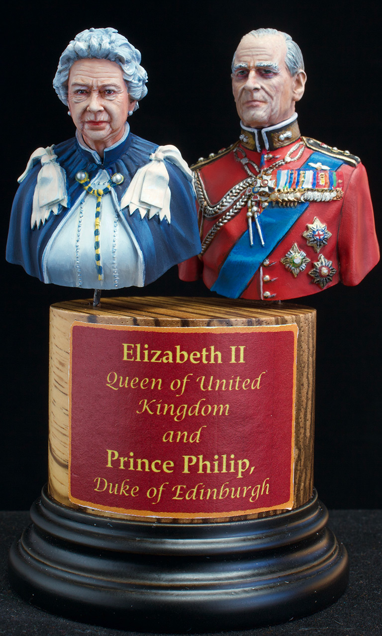Figures: Elizabeth II and Prince Philip, photo #1