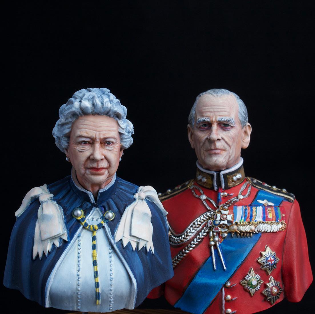 Figures: Elizabeth II and Prince Philip, photo #3
