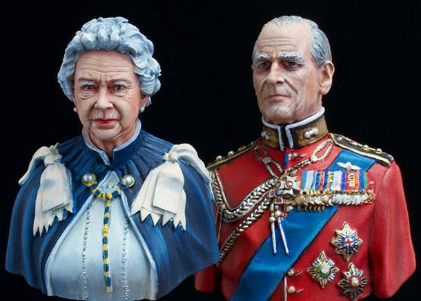 Figures: Elizabeth II and Prince Philip