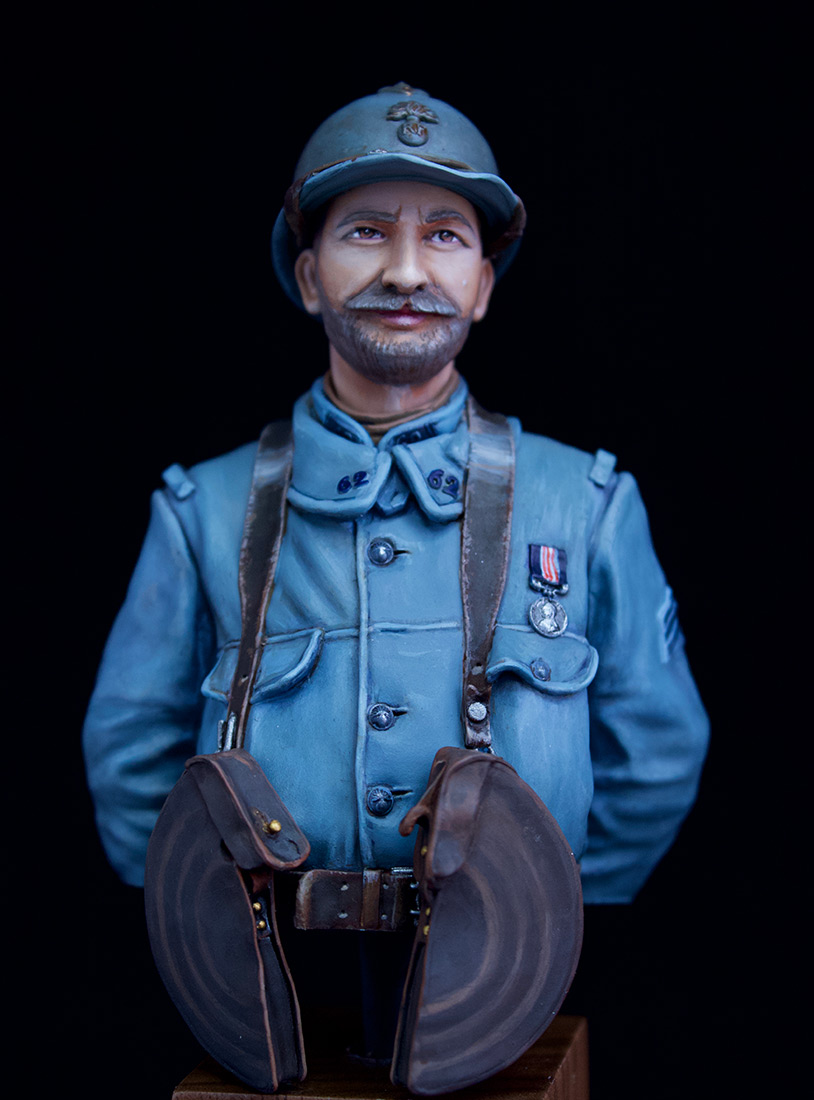 Figures: French Chauchat MG Gunner, 62nd regt, 1916, photo #2
