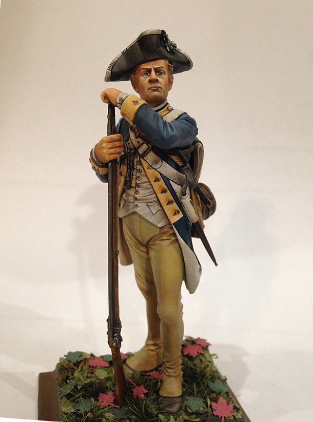 Figures: Private, 1st New York regt. of Continental Army