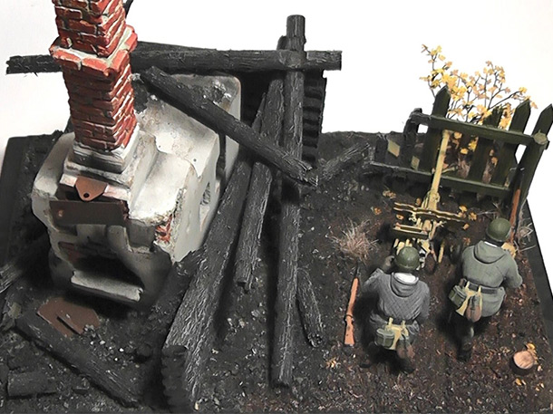 Dioramas and Vignettes: Fight in the smouldering ruins