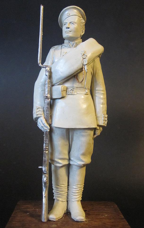 Sculpture: Russian Guard soldier, 1884