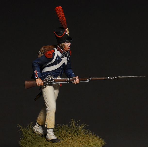 Figures: Carabineer of light infantry, 1800
