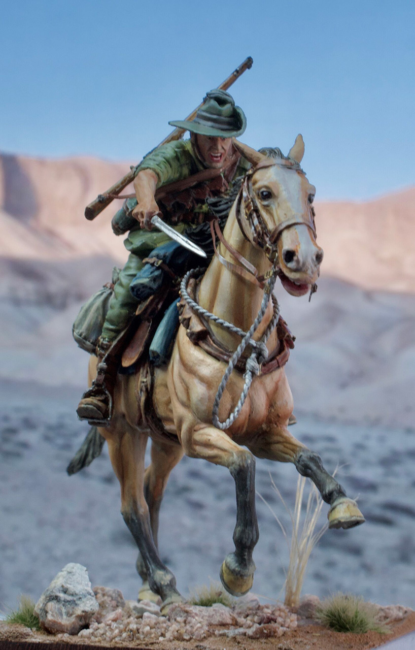 Figures: Australian light cavalry, WWI, photo #1