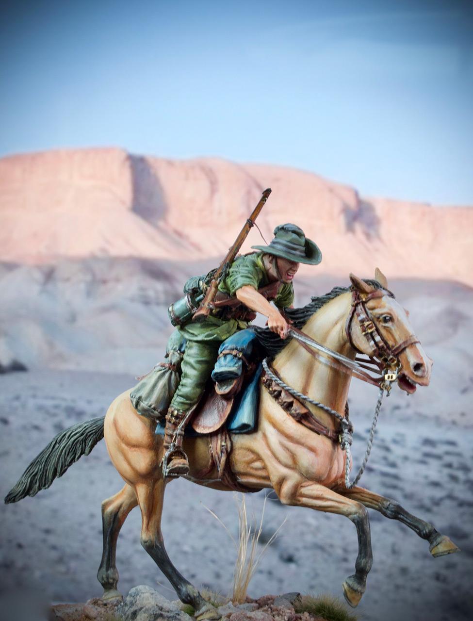 Figures: Australian light cavalry, WWI, photo #2