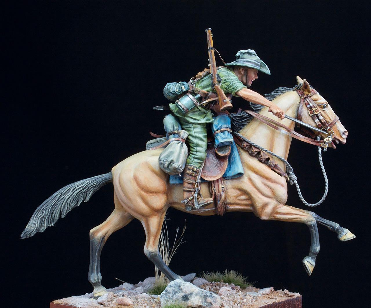 Figures: Australian light cavalry, WWI, photo #7