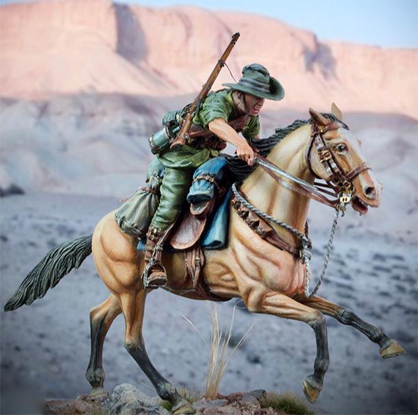 Figures: Australian light cavalry, WWI