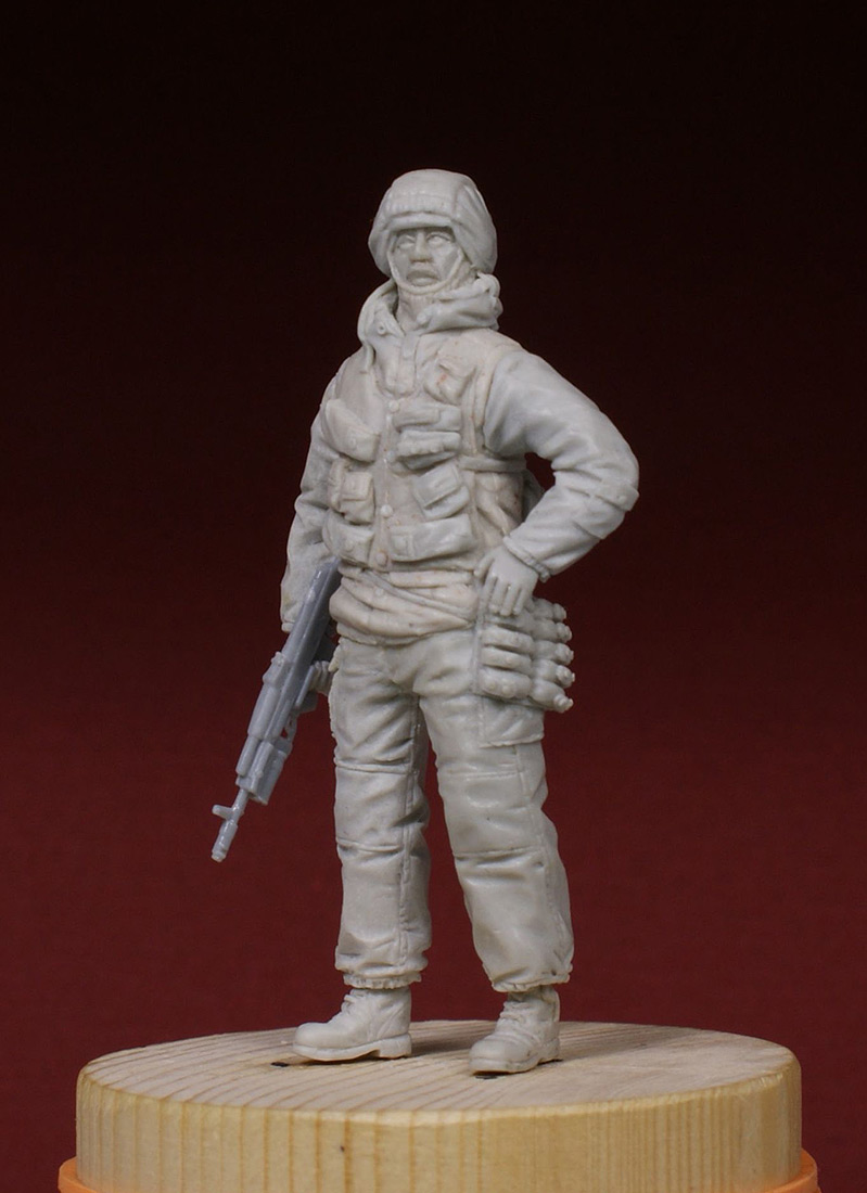 Sculpture: Russian special forces scout, 1995, photo #1