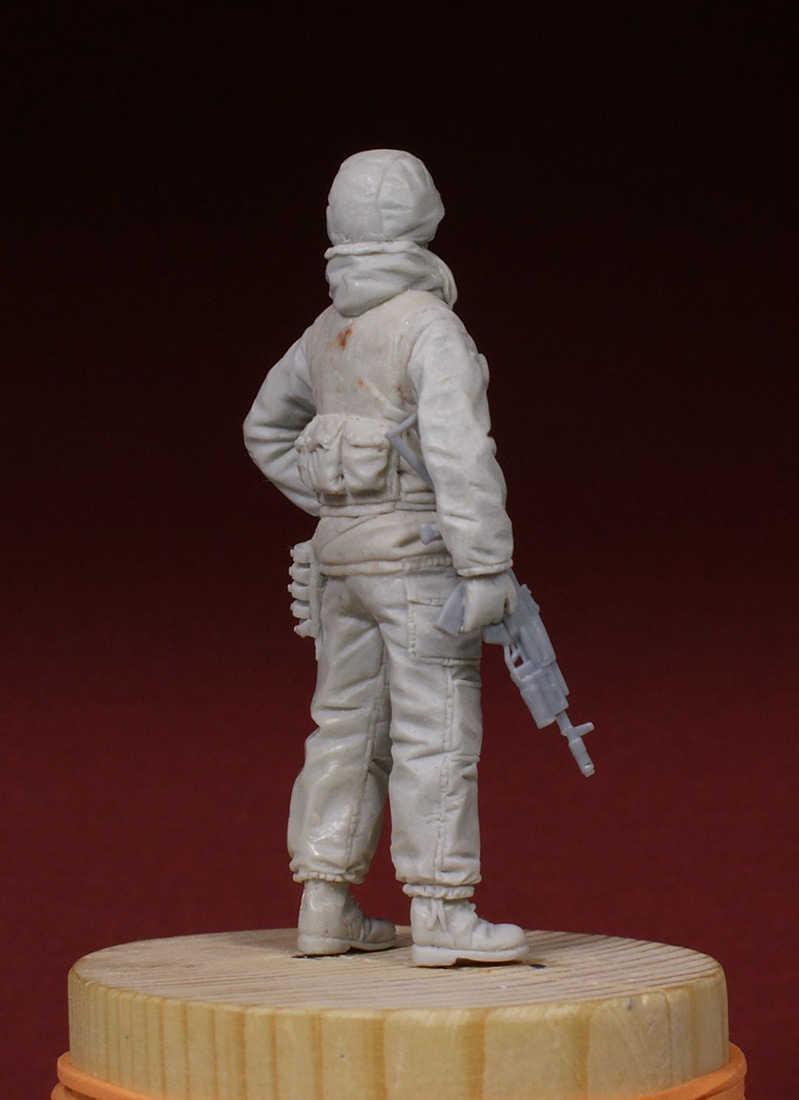 Sculpture: Russian special forces scout, 1995, photo #4