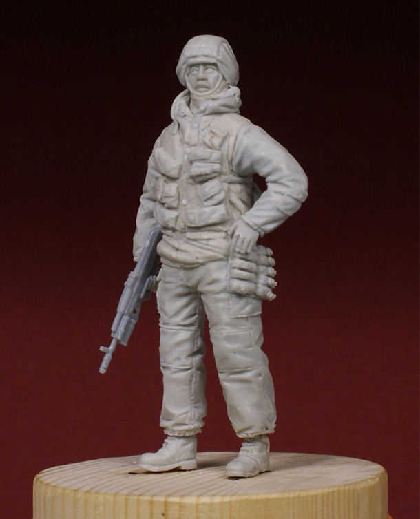 Sculpture: Russian special forces scout, 1995