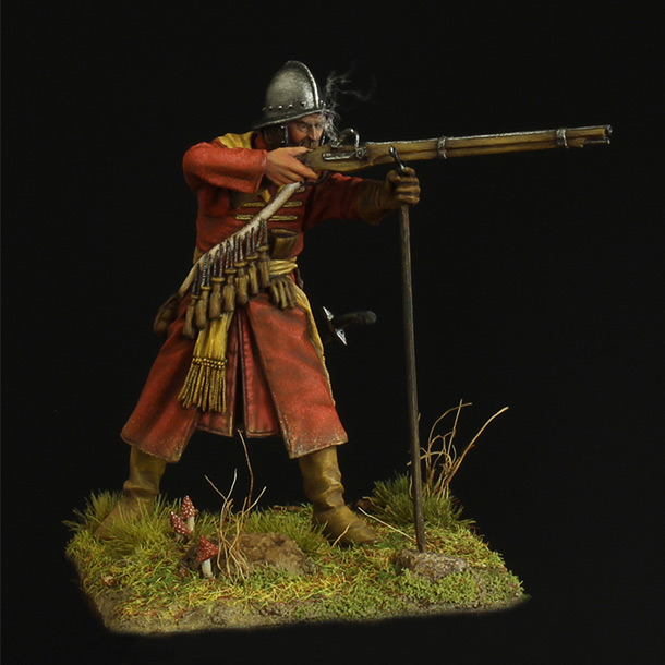 Figures: Musketeer of a new-type regiment, 17th