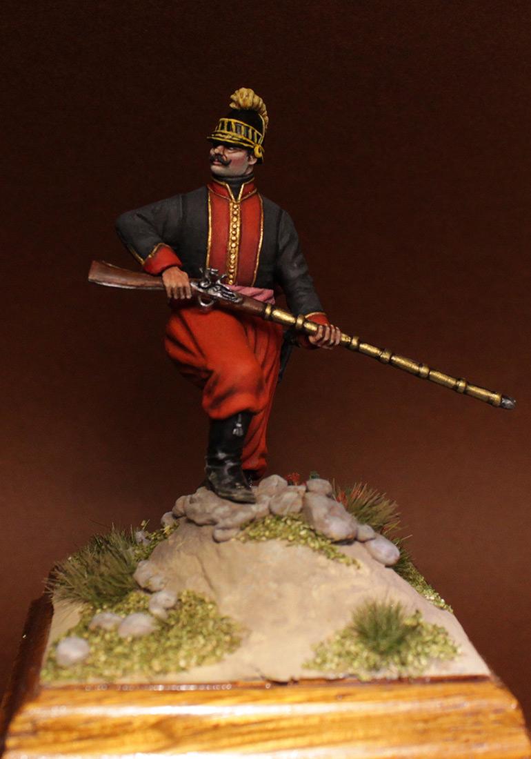 Figures: NCO, 1st btn, Greek infantry regt., 1779-96, photo #2