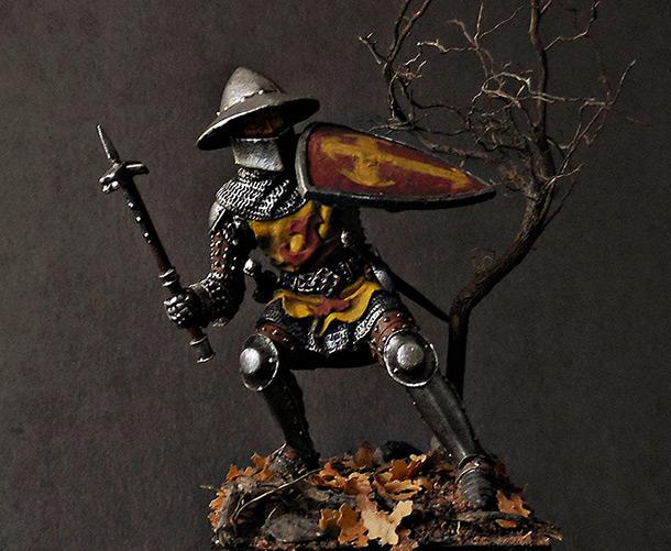 Figures: German knight, 1350-70