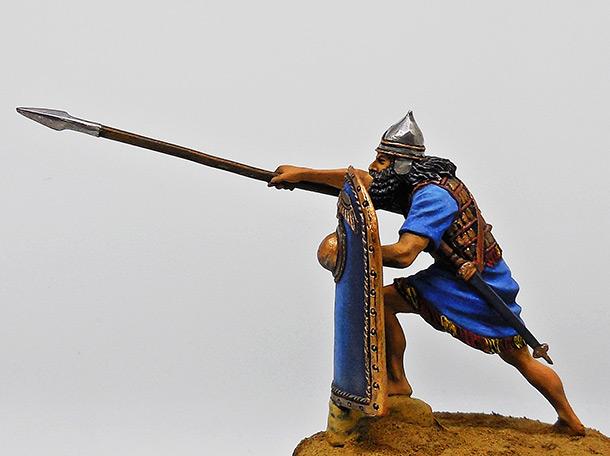 Figures: Assyrian warrior, 2-1 millenium B.C.