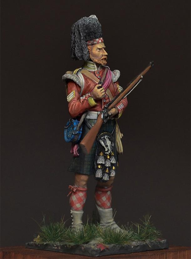 Figures: Colour sergeant, 93th regt., 1854