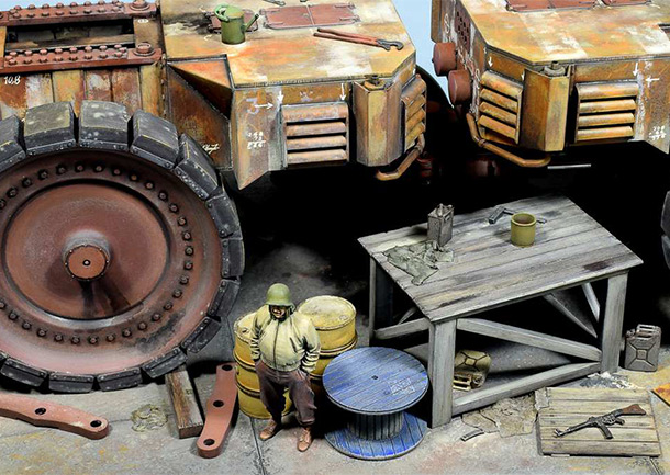 Dioramas and Vignettes: Krupp Raumer S