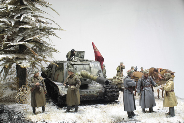 Dioramas and Vignettes: Lets' refill the ammo, have a smoke and go on