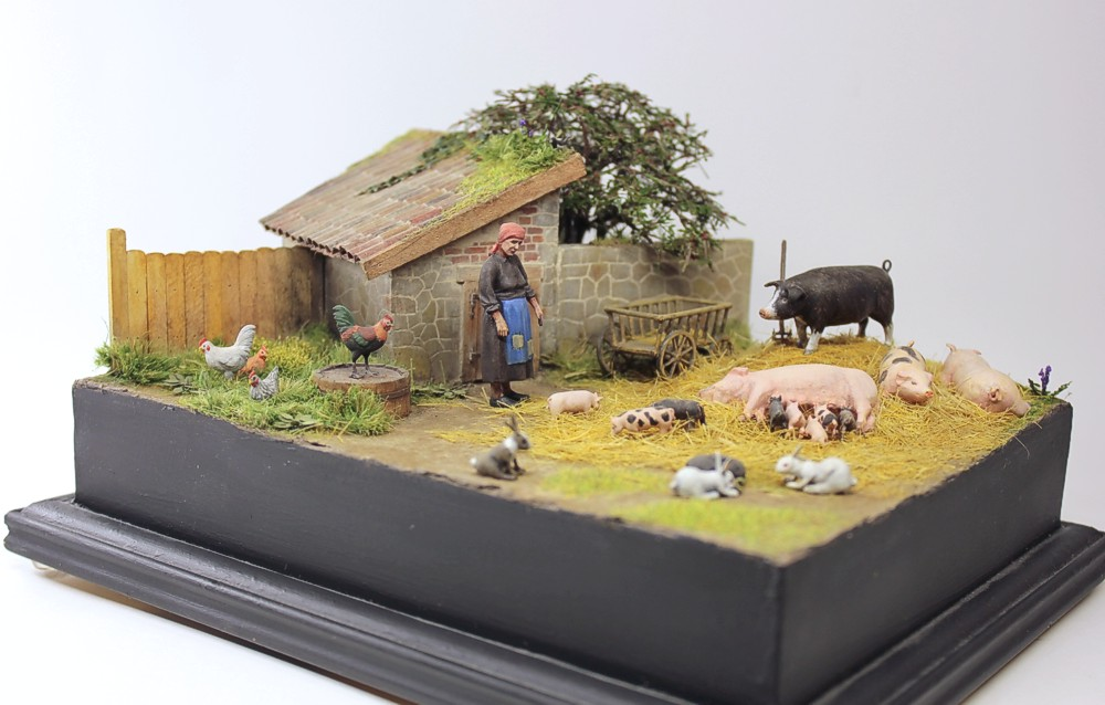 Dioramas and Vignettes: Summer day in countryside, photo #1
