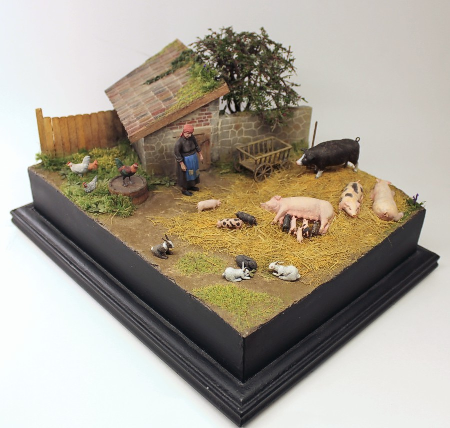 Dioramas and Vignettes: Summer day in countryside, photo #2