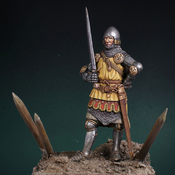 Figures: English knight. Battle of Crecy