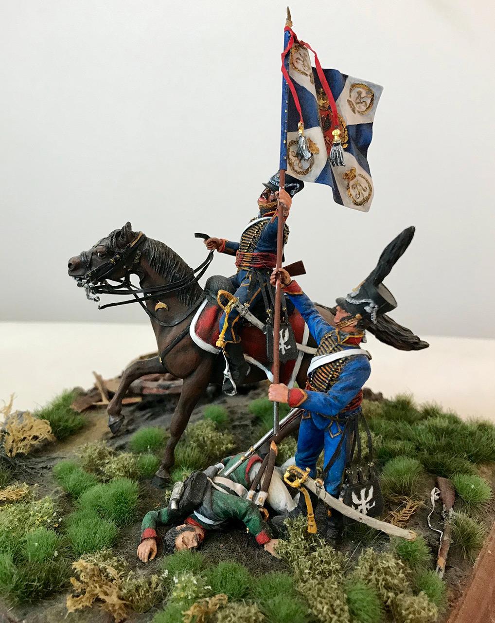 Dioramas and Vignettes: Captured flag. 10 Polish hussars, Russia 1812, photo #10