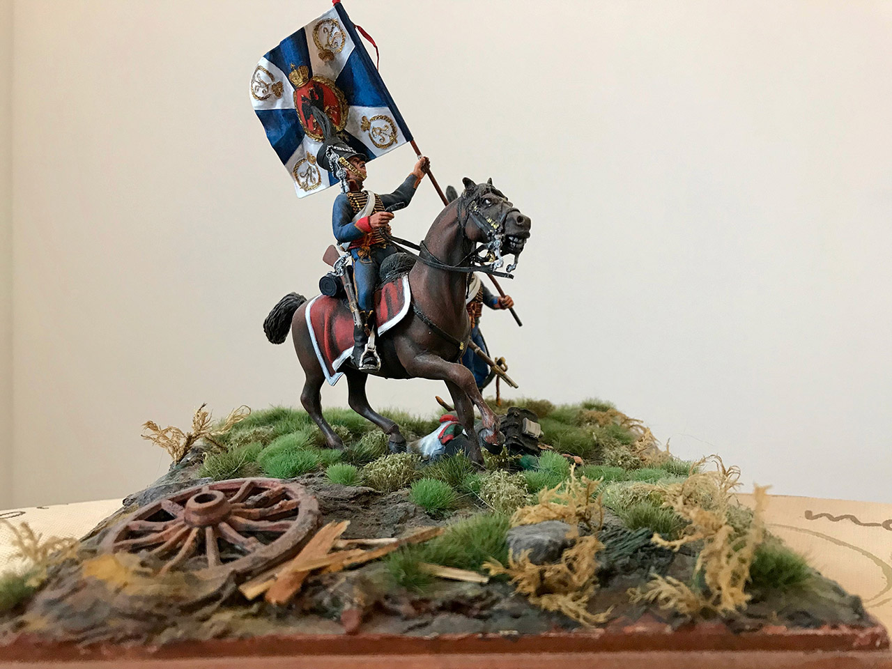 Dioramas and Vignettes: Captured flag. 10 Polish hussars, Russia 1812, photo #11