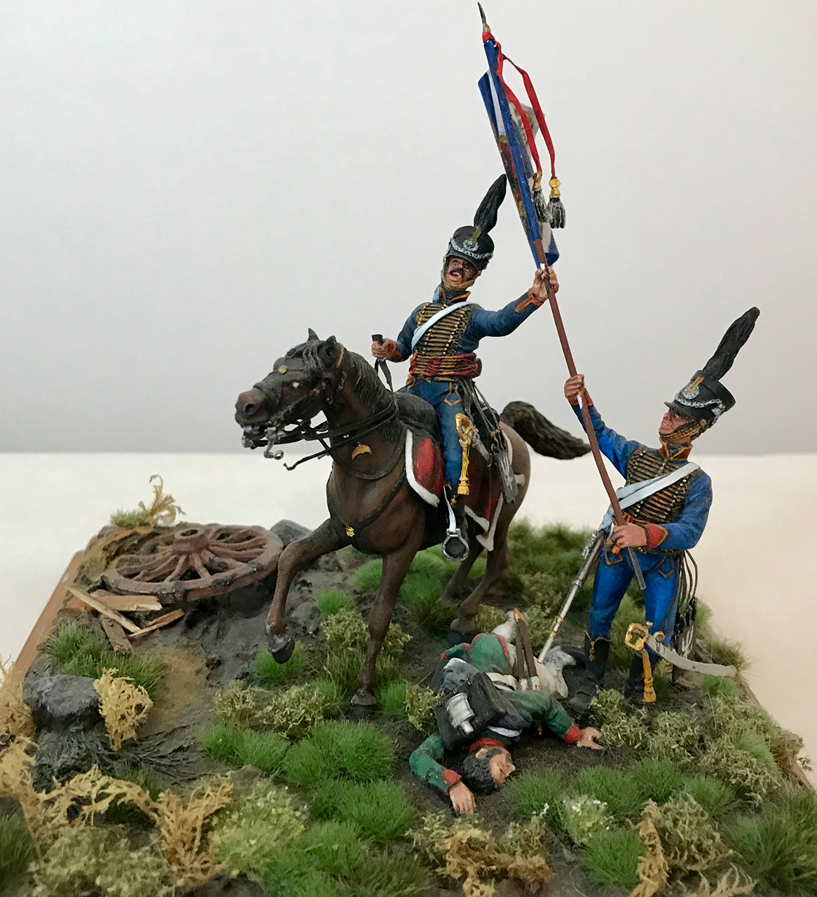 Dioramas and Vignettes: Captured flag. 10 Polish hussars, Russia 1812, photo #12