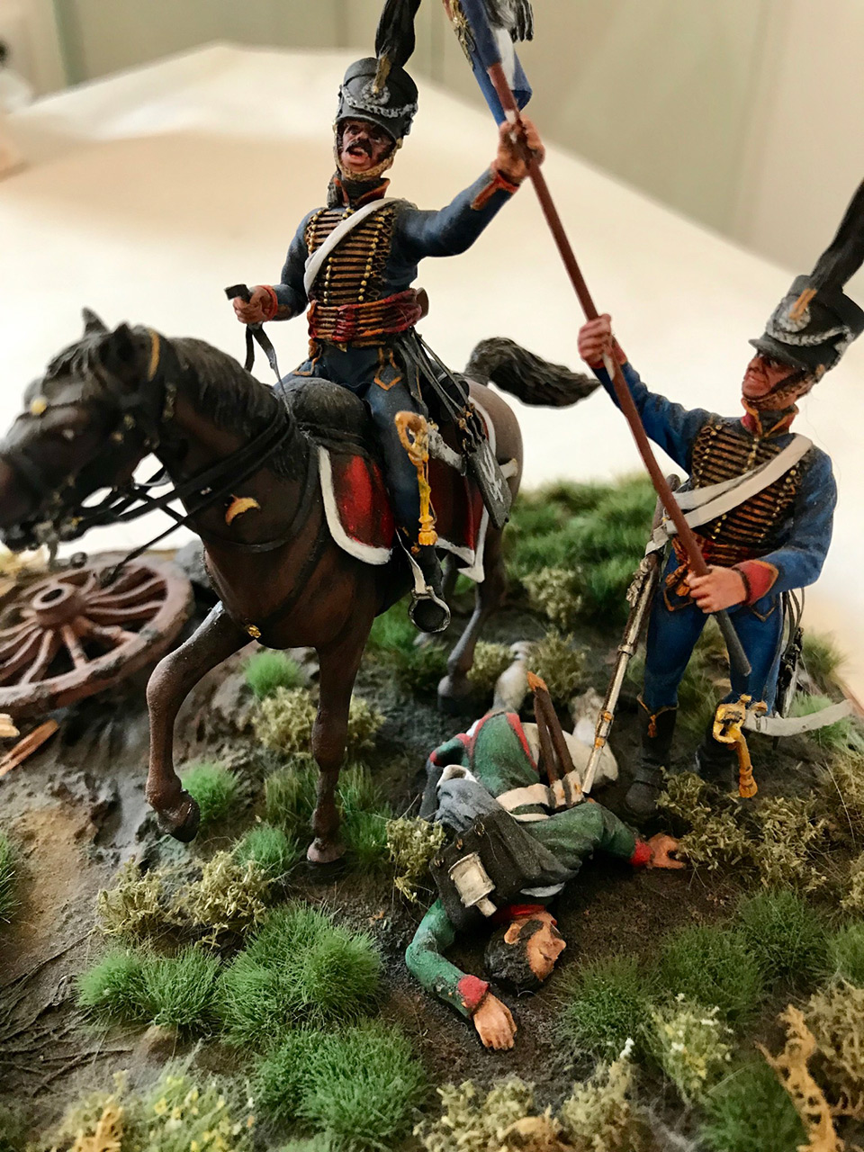 Dioramas and Vignettes: Captured flag. 10 Polish hussars, Russia 1812, photo #4