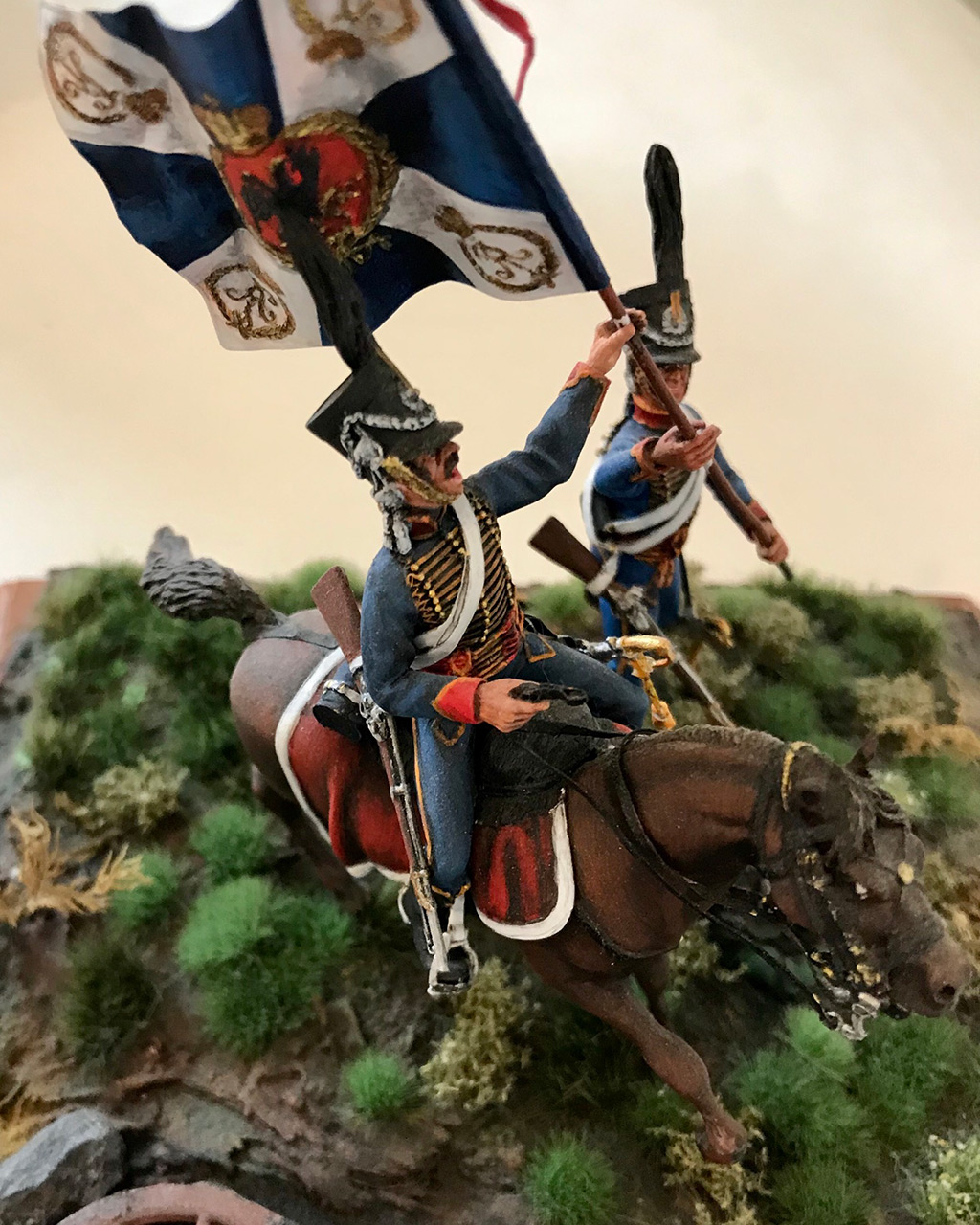 Dioramas and Vignettes: Captured flag. 10 Polish hussars, Russia 1812, photo #6