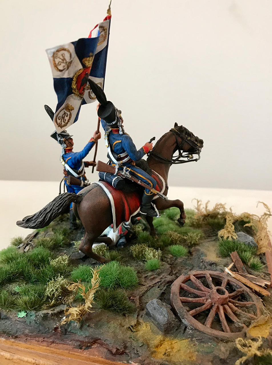 Dioramas and Vignettes: Captured flag. 10 Polish hussars, Russia 1812, photo #7