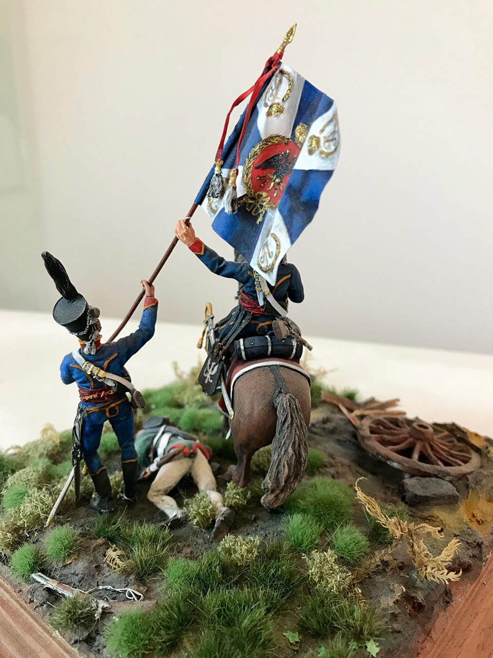 Dioramas and Vignettes: Captured flag. 10 Polish hussars, Russia 1812, photo #8