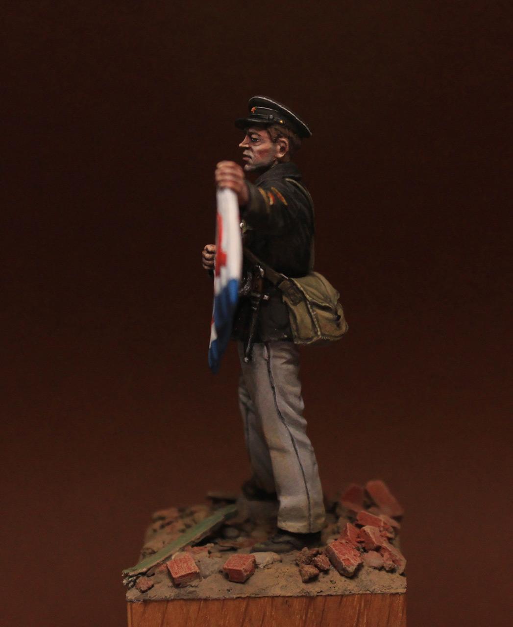 Figures: Petty officer 1st class, Soviet marines, 1942, photo #7