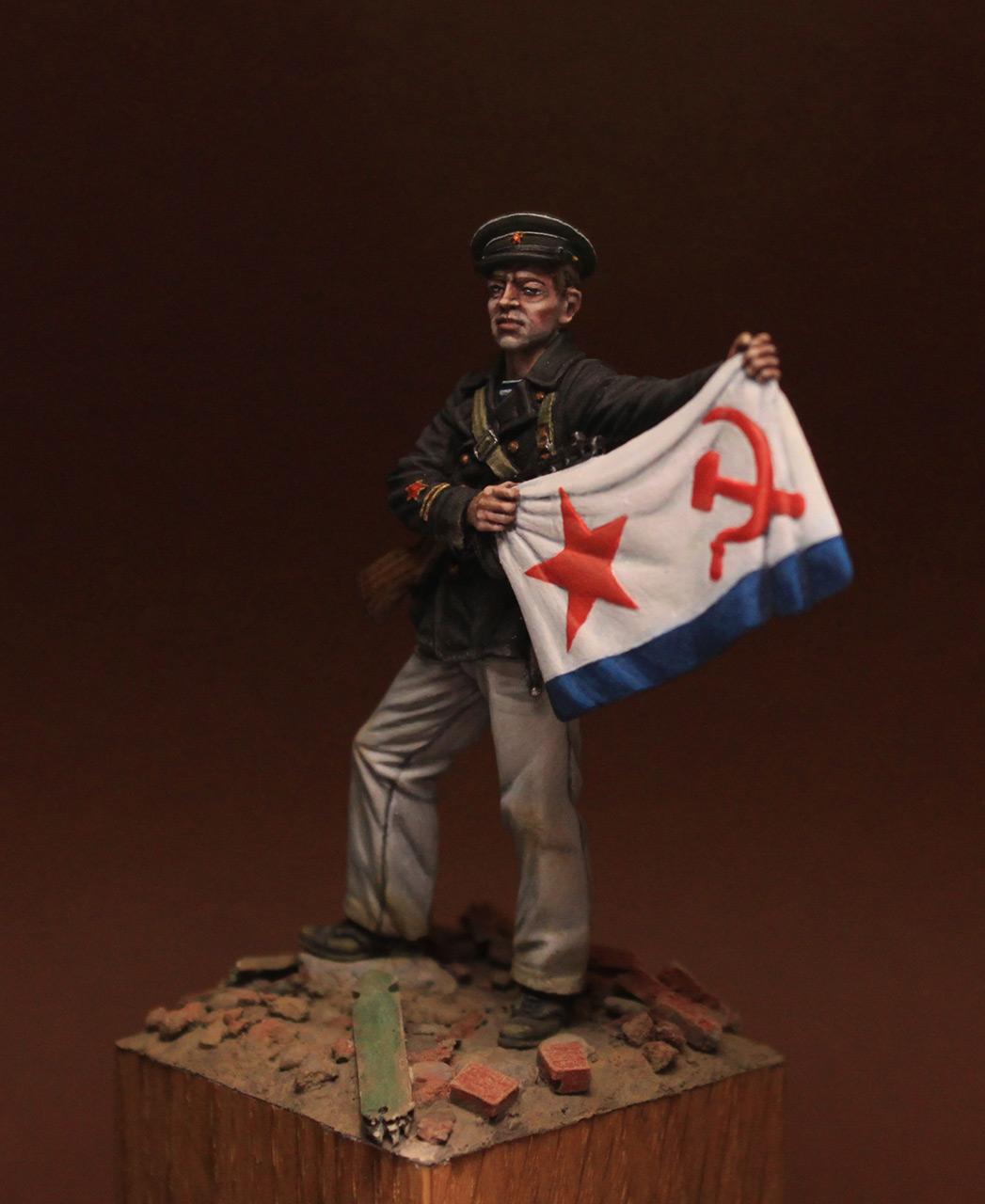 Figures: Petty officer 1st class, Soviet marines, 1942, photo #8
