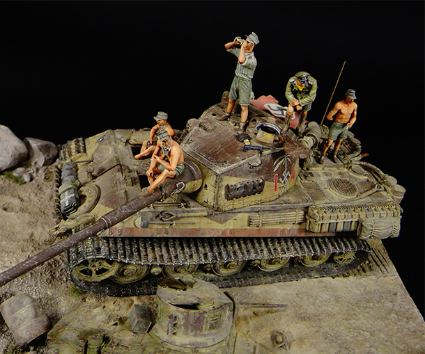 Dioramas and Vignettes: King Tiger in Africa (what if)
