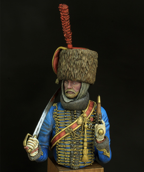 Figures: Hussar, elite company of 7th regt.