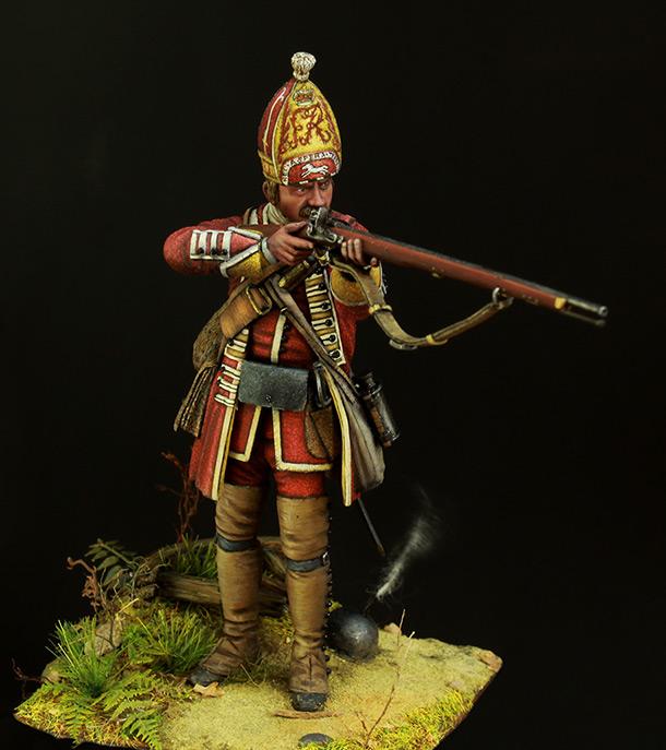 Figures: British grenadier, 18th cent.
