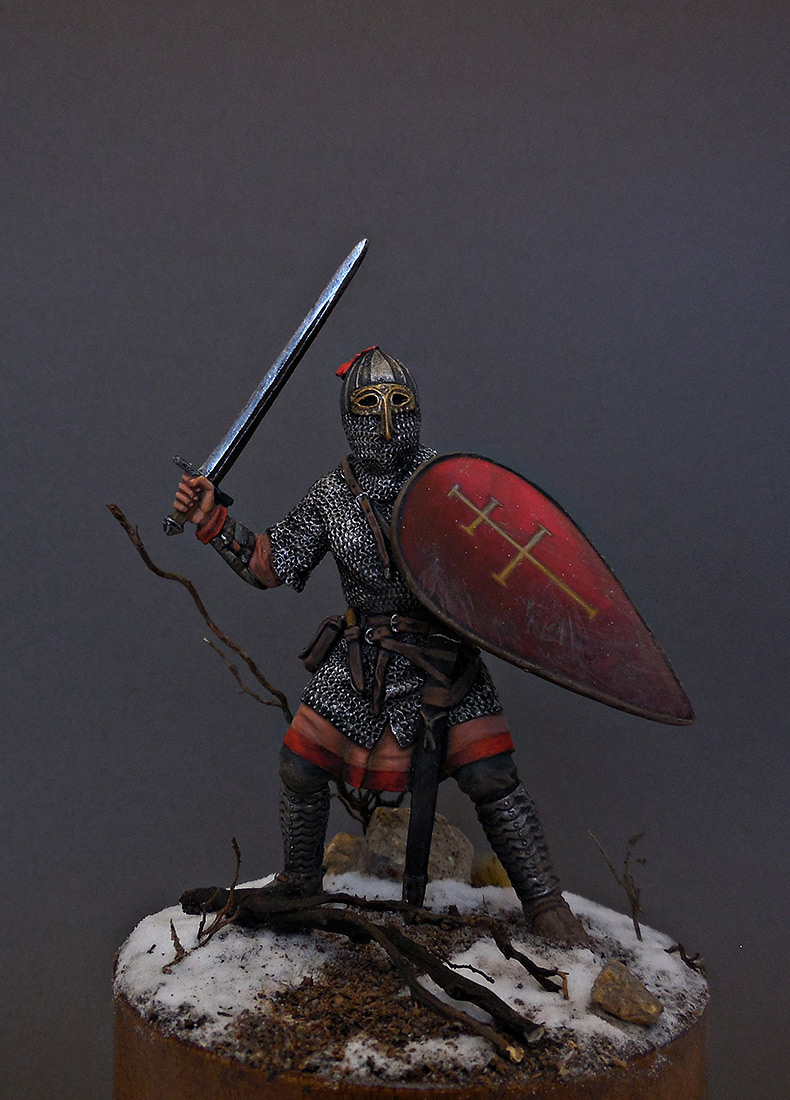 Figures: Russian warrior, 13th cent., photo #5