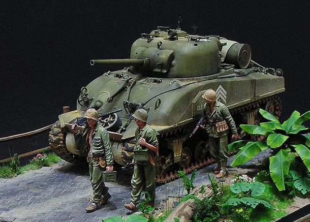 Dioramas and Vignettes: M4 Sherman