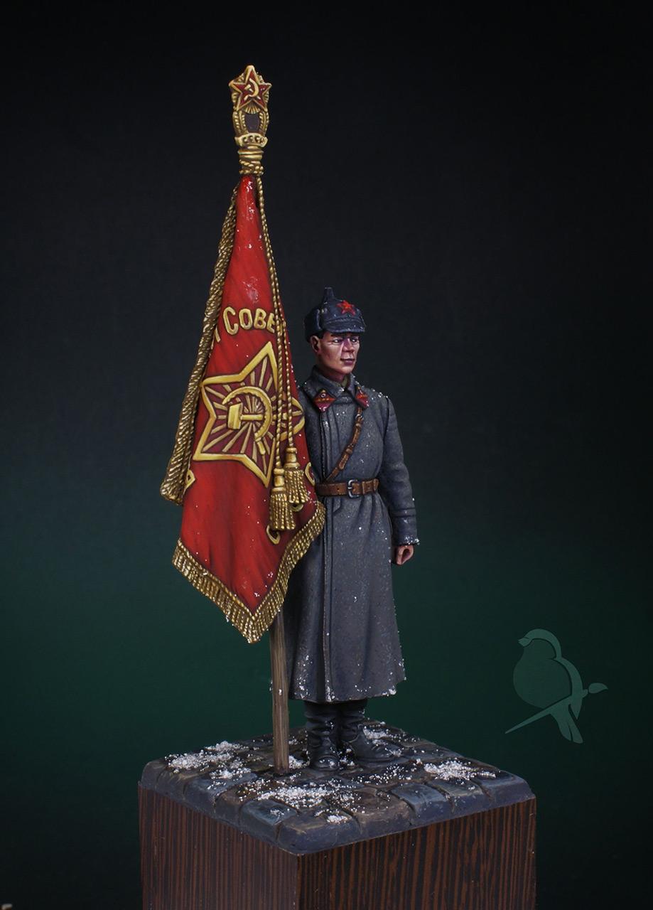 Figures: Senior sergeant with standard, 1941, photo #4