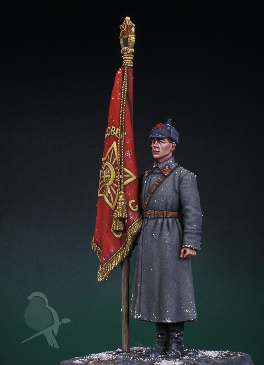 Figures: Senior sergeant with standard, 1941, photo #5