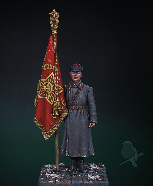 Figures: Senior sergeant with standard, 1941