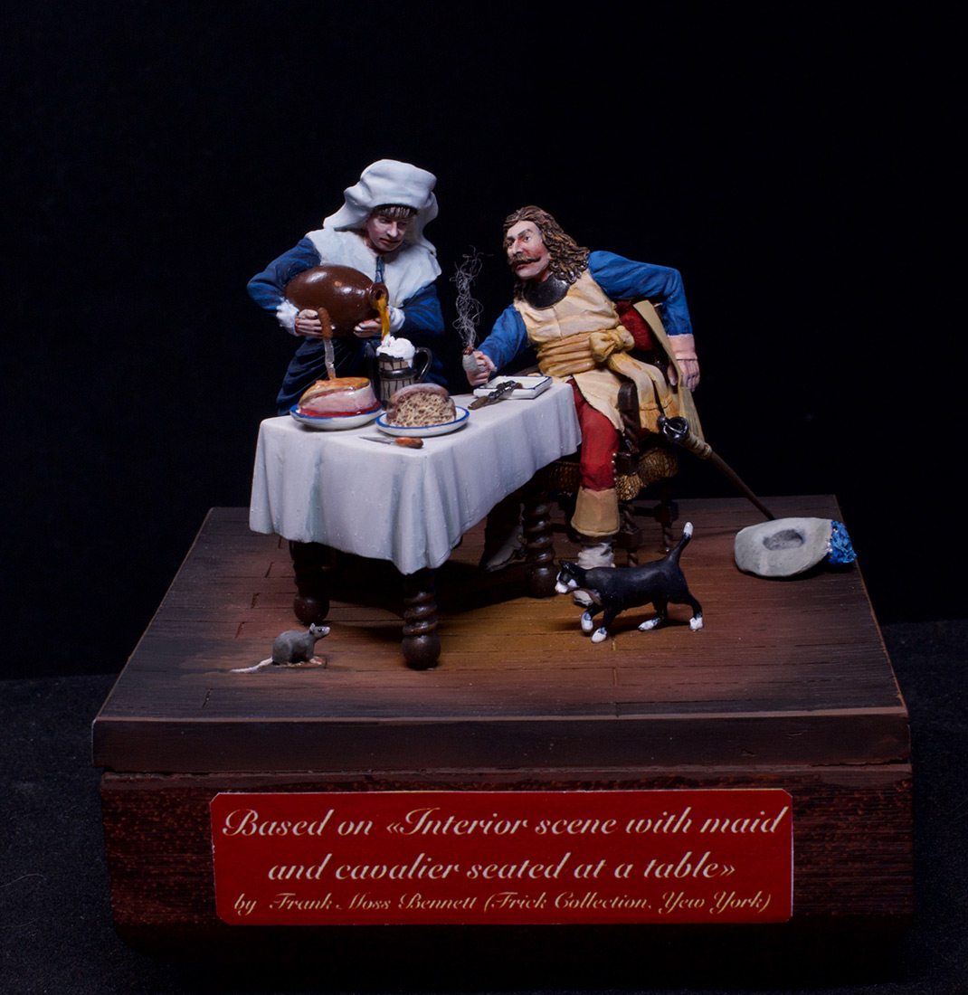 Dioramas and Vignettes: Waitress and cavalier, photo #1